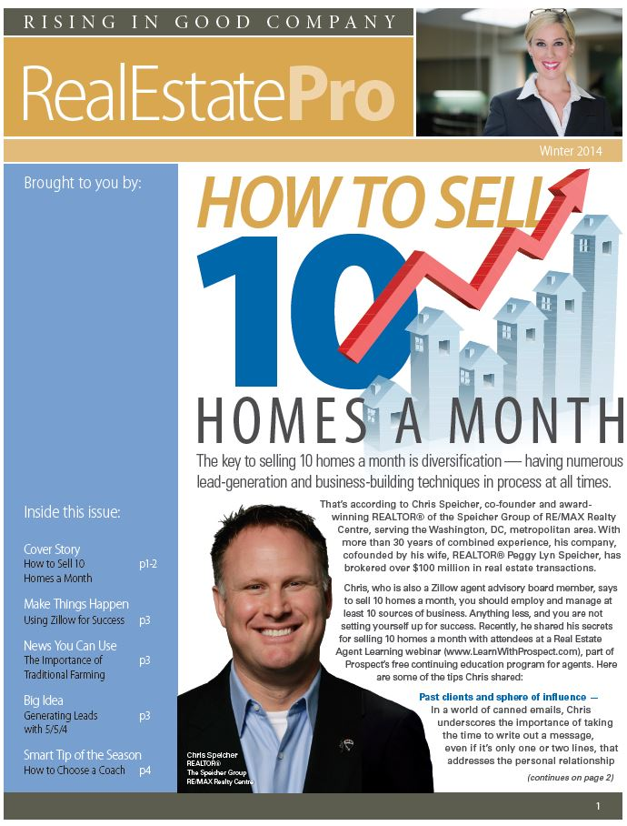 Chris Speicher of the Speicher Group Winter 2014 Real Estate Pro