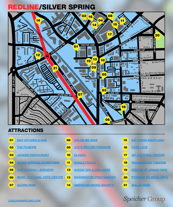 Silver Spring, Maryland Community Map